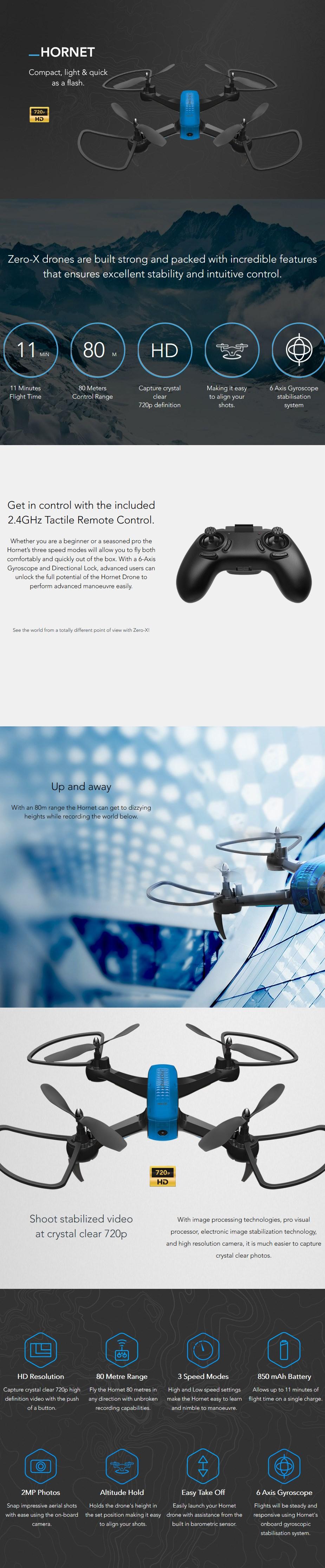 Zero-X Hornet 720p Drone - Desktop Overview 1