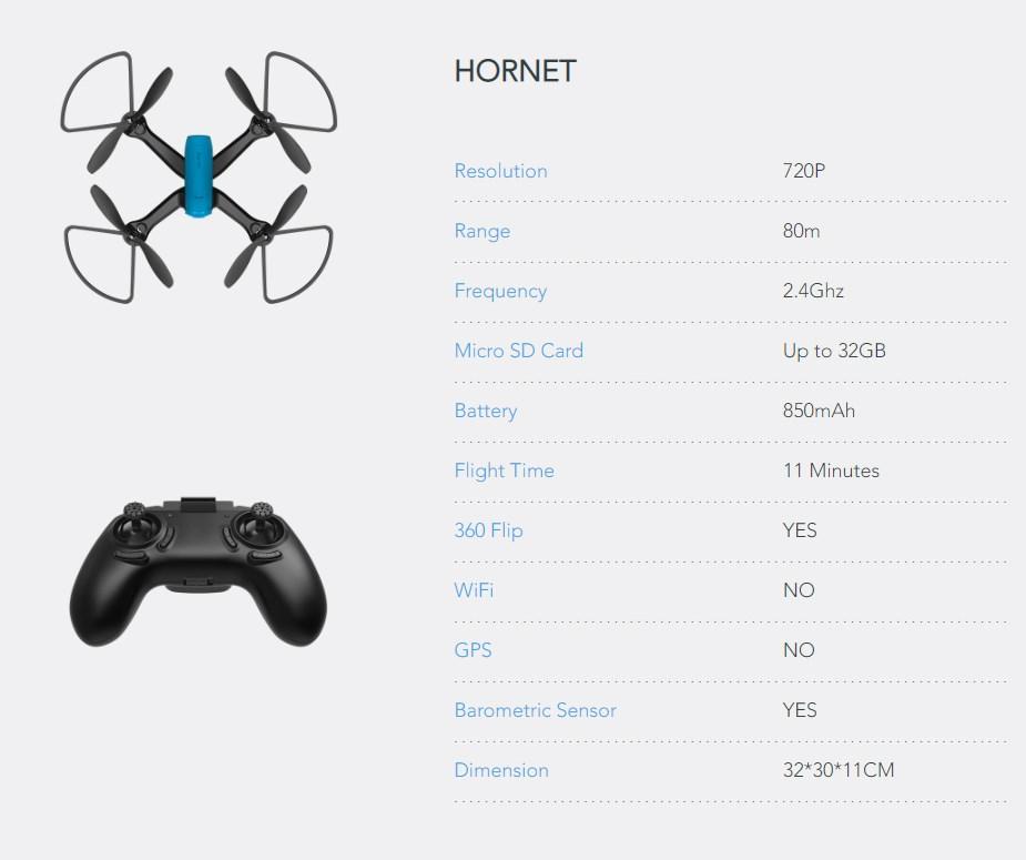 Zero-X Hornet 720p Drone - Desktop Overview 2