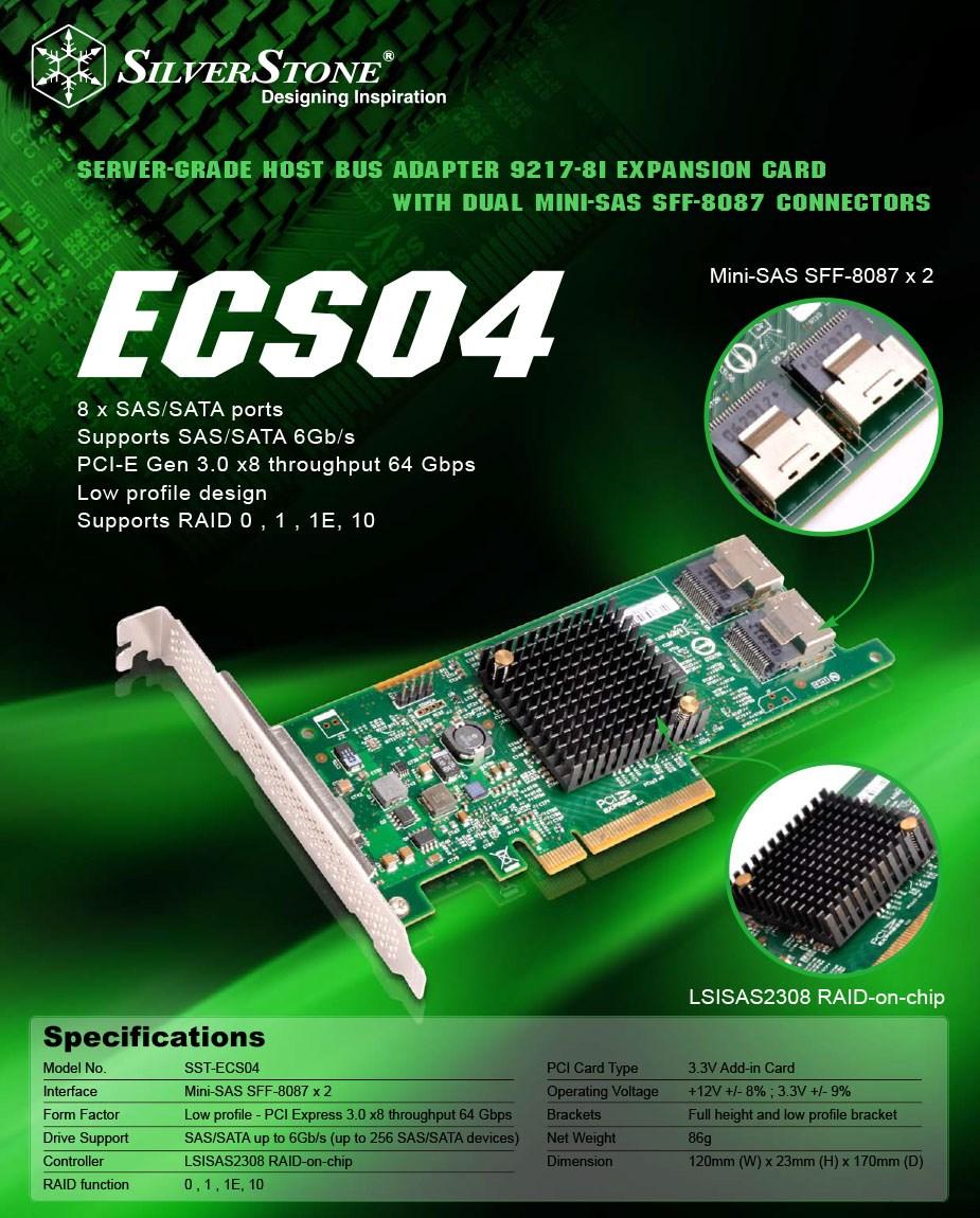 Silverstone ECS04 SAS Controller - Overview 1