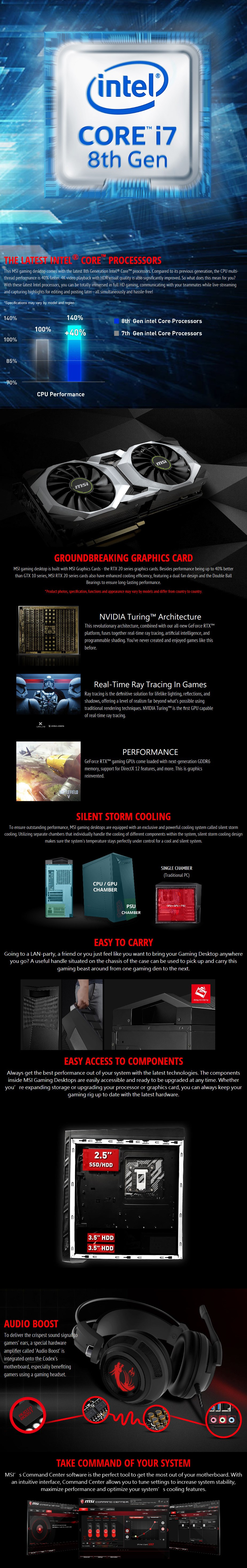 MSI Infinite Mid-Tower Gaming PC i7-8700 16GB 256GB RTX2060 Win10H - Desktop Overview 1