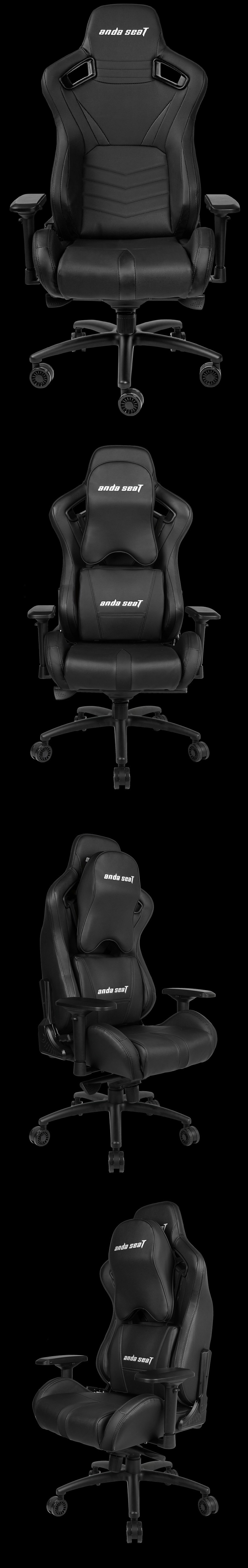 Anda Seat AD12-XL-03 v2 Gaming Chair - Black - Desktop Overview 2