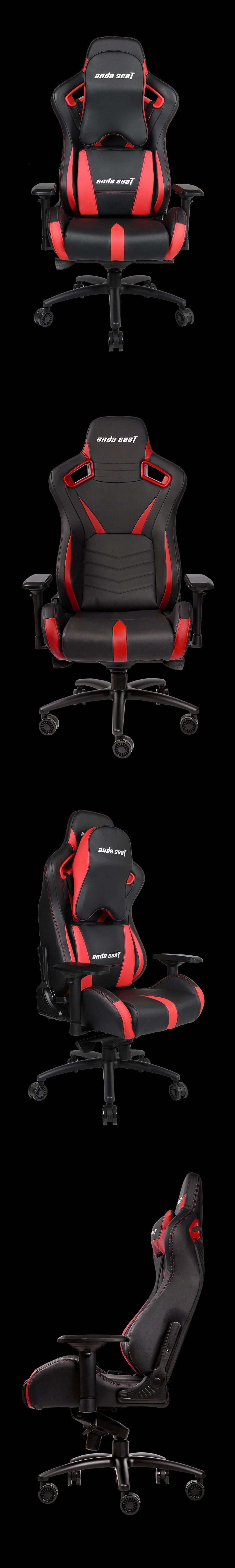 Anda Seat AD12-XL-03 v2 Gaming Chair - Black/Red - Desktop Overview 2