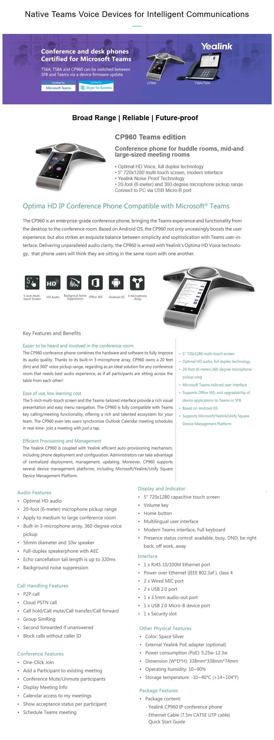 Yealink T58A-TEAMS HD IP Phone - Microsoft Teams Edition - Desktop Overview 1