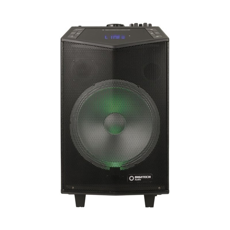 "Digitech 12"" Rechargeable PA Speakers with Wireless Microphone - Desktop Overview 1"