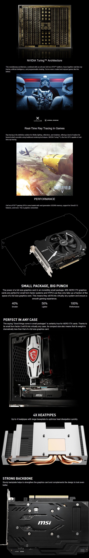 MSI GeForce RTX 2070 AERO ITX 8GB Video Card - Desktop Overview 1