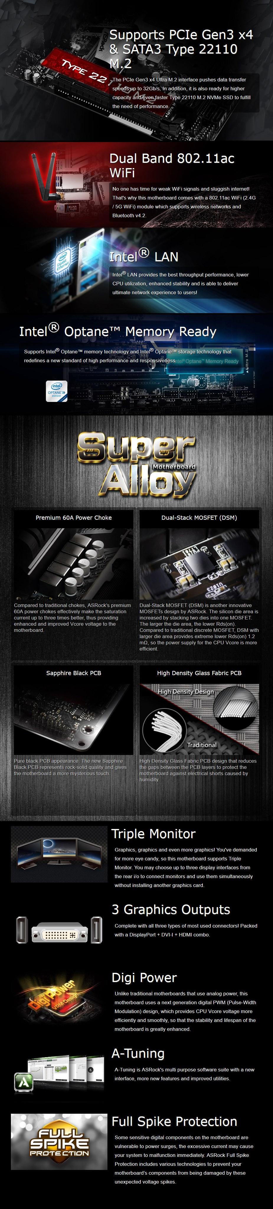 ASRock B365M-ITX/ac LGA 1151 Mini-ITX Motherboard - Desktop Overview 1