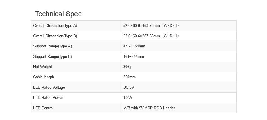 DeepCool GH-01 A-RGB Adjustable Internal Graphics Card Holder - Desktop Overview 2