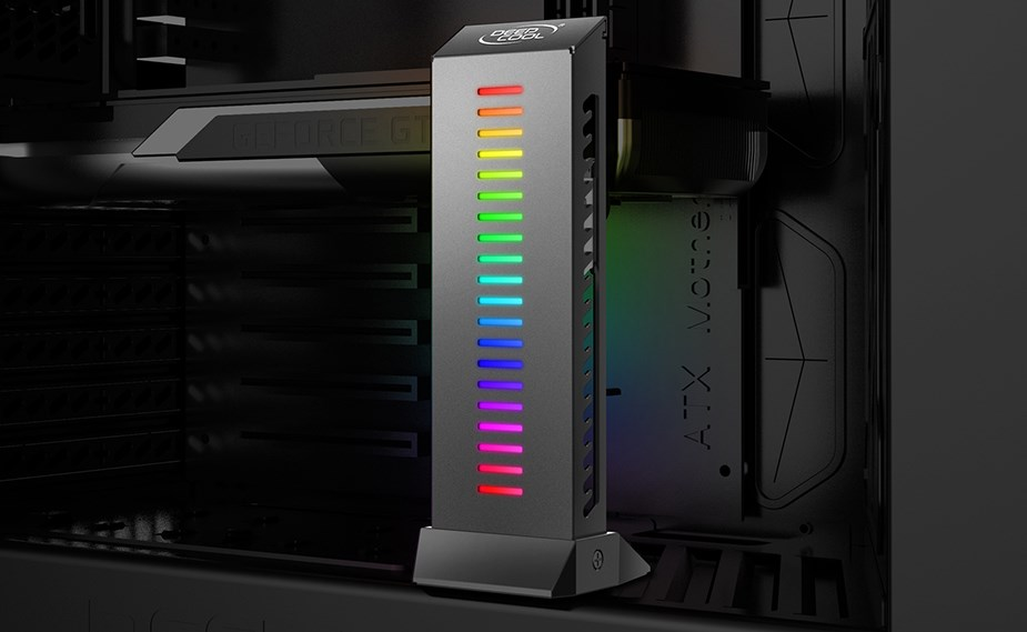 DeepCool GH-01 A-RGB Adjustable Internal Graphics Card Holder - Desktop Overview 3