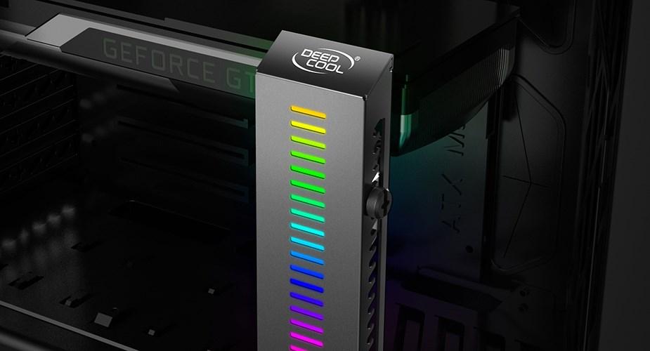 DeepCool GH-01 A-RGB Adjustable Internal Graphics Card Holder - Desktop Overview 4