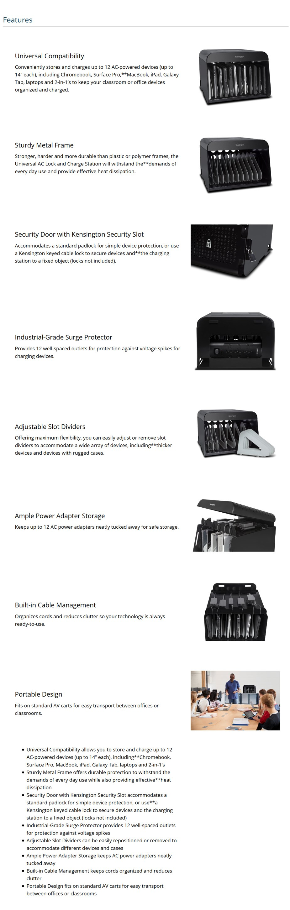 Kensington Universal AC Lock and Charge Station - Desktop Overview 1