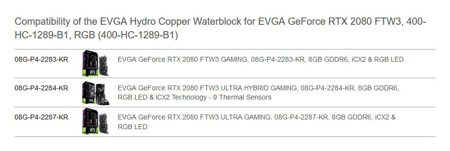 EVGA Hydro Copper Waterblock for EVGA GeForce RTX 2080 FTW3 - Overview 1