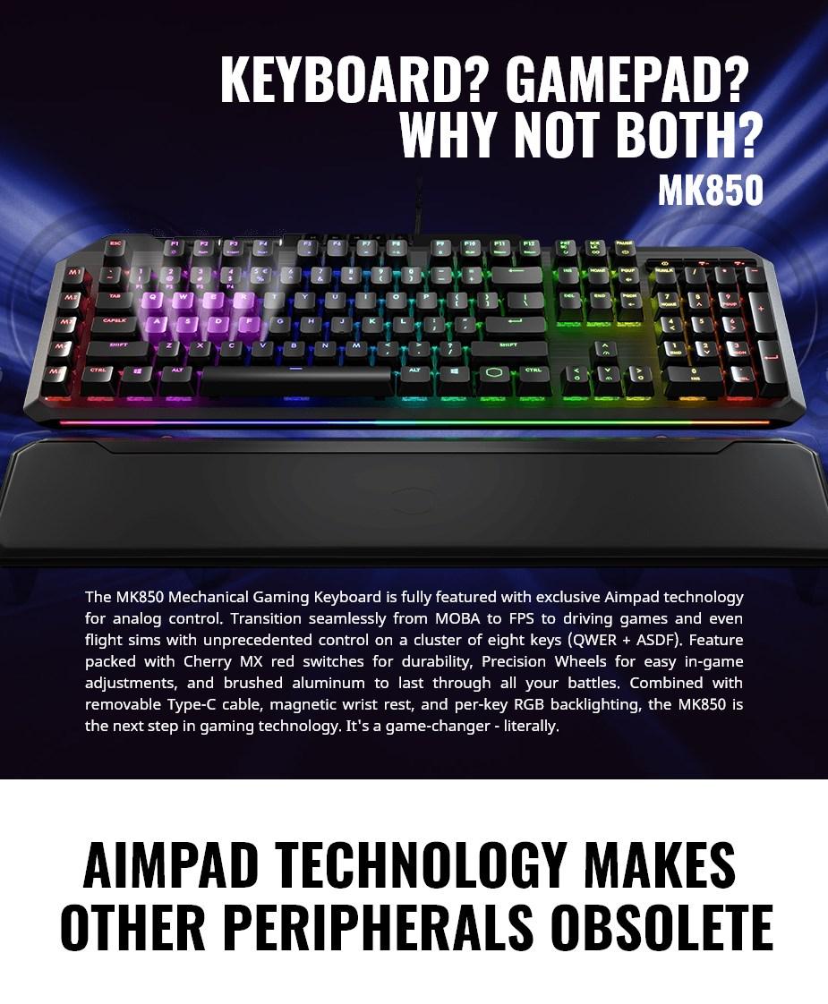 Cooler Master MK850 RGB Mechanical Gaming Keyboard - Cherry MX Red - Desktop Overview 1