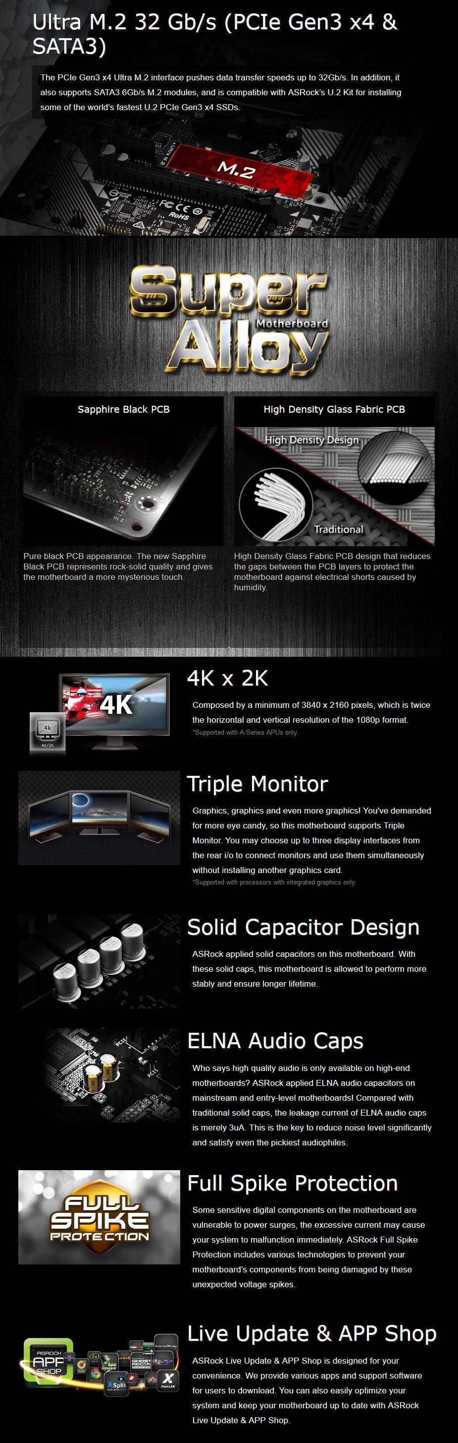 ASRock A320M-HDV R4.0 AM4 M-ATX Motherboard - Desktop Overview 1