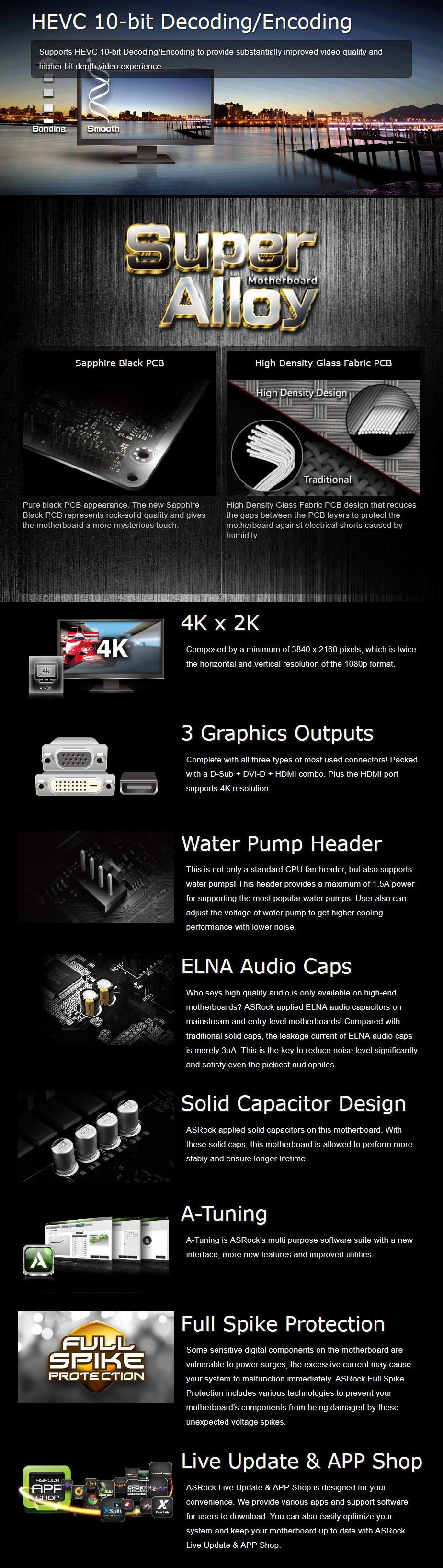 ASRock H310CM-HDV LGA 1151 M-ATX Motherboard - Desktop Overview 1