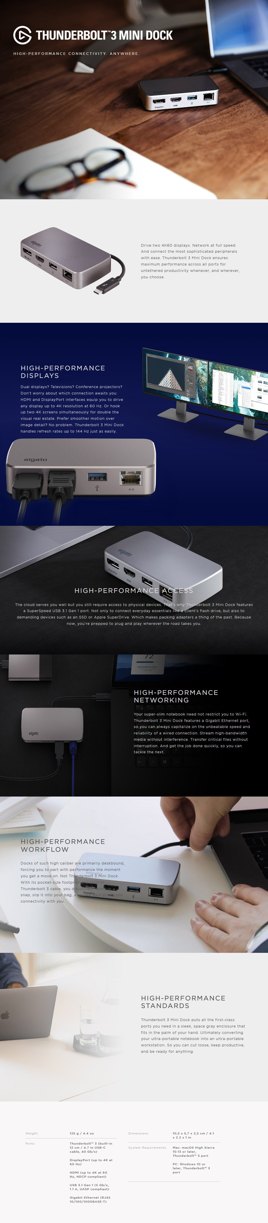 Elgato Thunderbolt 3 Mini Dock - 10DAB9901 | Mwave com au