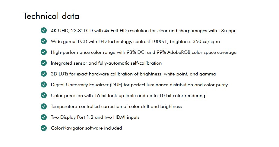 "Eizo ColorEdge CG248 23.8"" 4K UHD Professional Colour-Calibrating IPS Monitor - Desktop Overview 3"