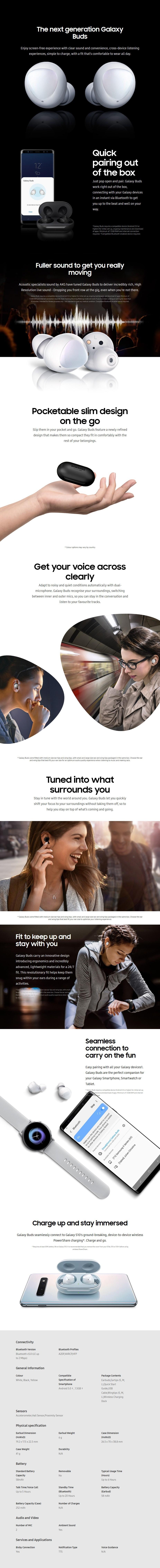 Samsung Galaxy Buds - White - Desktop Overview 1