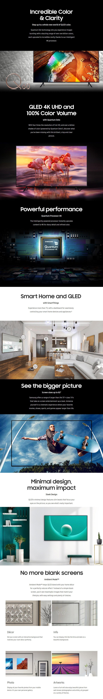 "Samsung Series Q60 QA75Q60RAWXXY 75"" 4K UHD Smart QLED TV - Desktop Overview 1"