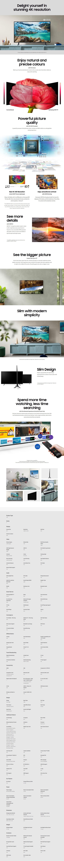 """Samsung Series 7 RU7100 50"""" 4K UHD Smart LED TV - 2019 Model - Desktop Overview 1"""