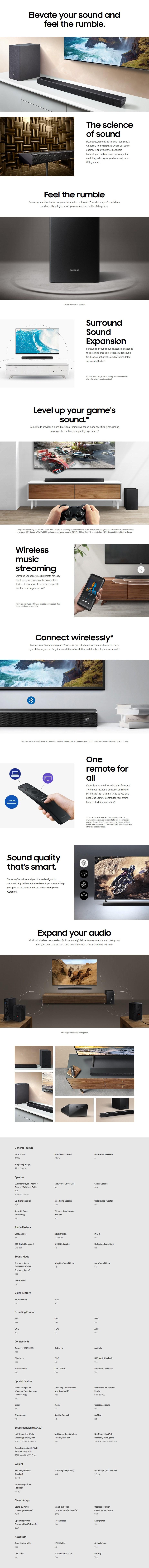 Samsung Series 5 HW-R550 2.1 Soundbar - Desktop Overview 1