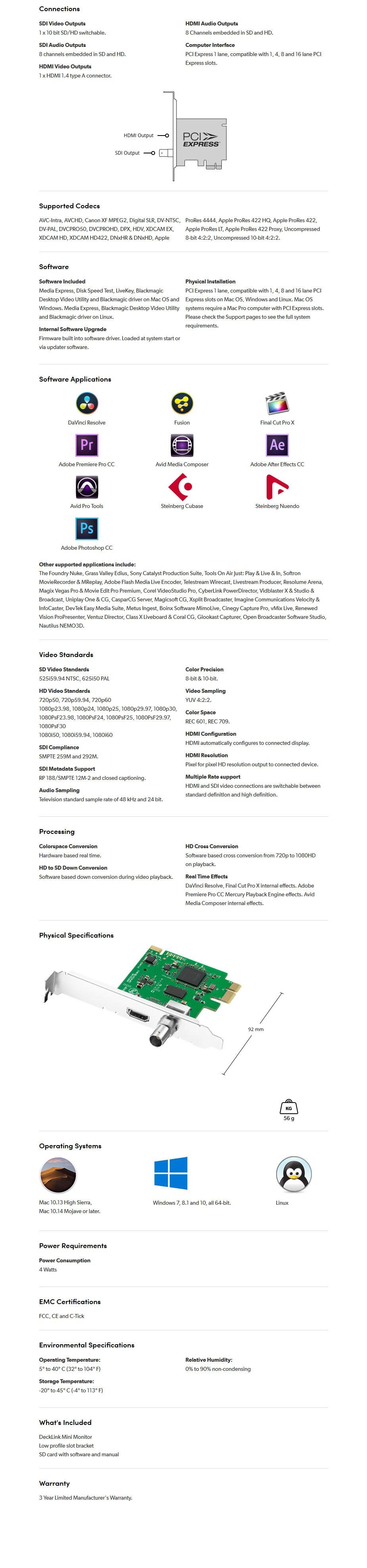Blackmagic Design DeckLink 1080p30 Mini Monitor - Overview 1