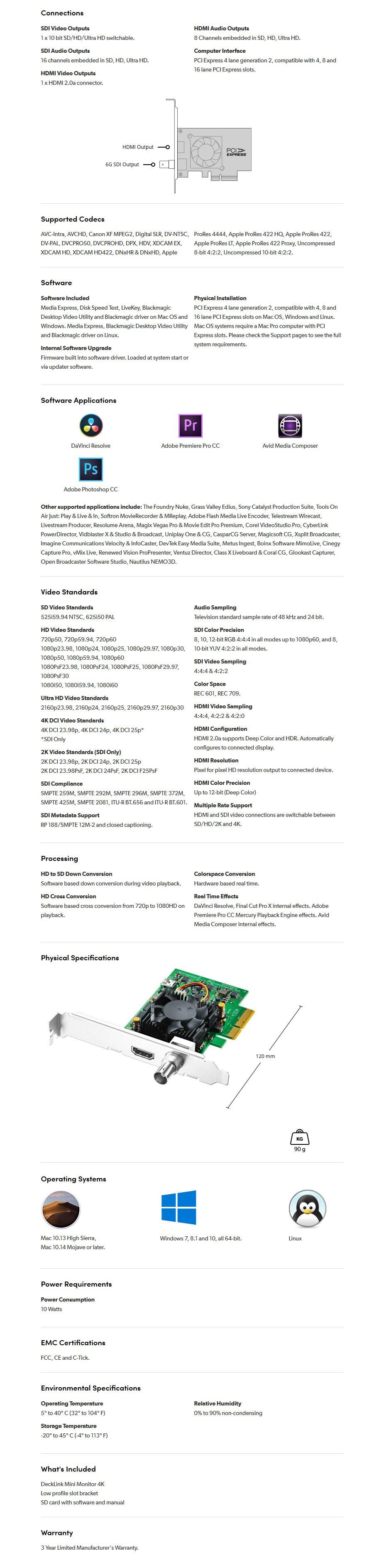 Blackmagic Design DeckLink 4K Mini Monitor - Overview 1