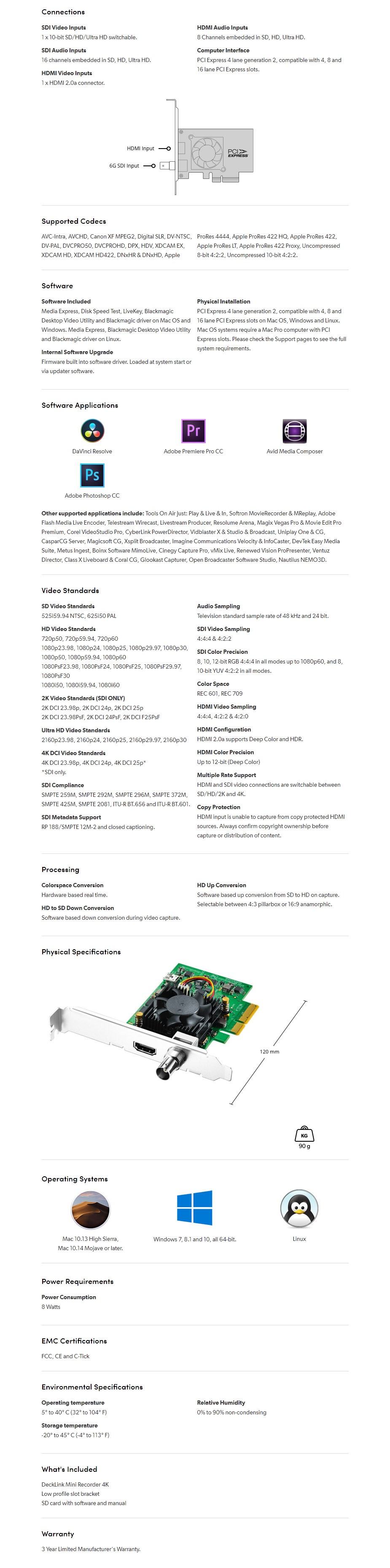 Blackmagic Design DeckLink 4K Mini Recorder - Overview 1