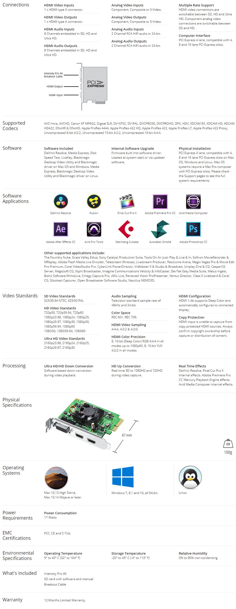 Blackmagic Design Intensity Pro 4K Capture/Playback Card - Overview 2