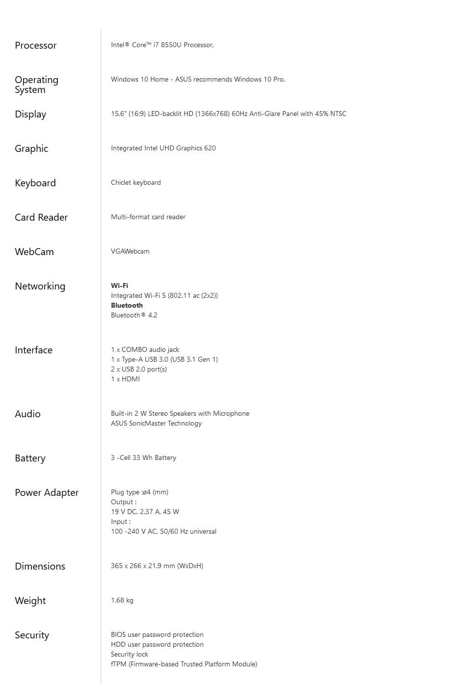 "ASUS X507UA 15.6"" Notebook i7-8550U 8GB 512GB SSD Win10H - Star Gray - Desktop Overview 2"
