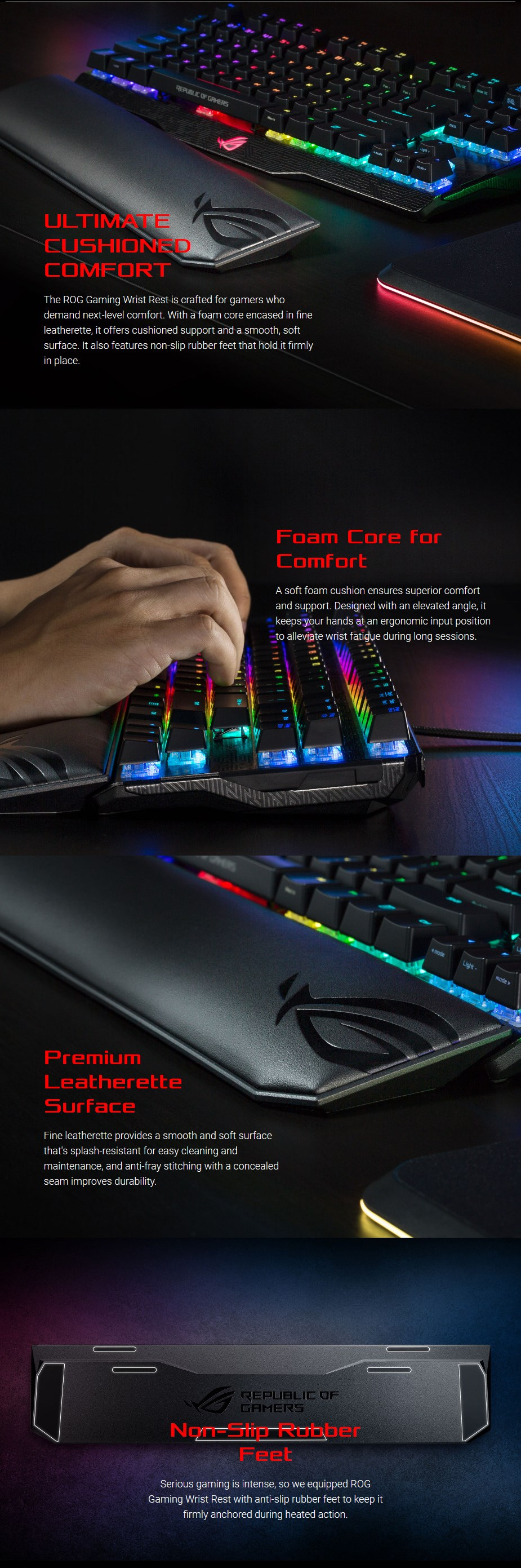 ASUS ROG Gaming Wrist Rest - Desktop Overview 1
