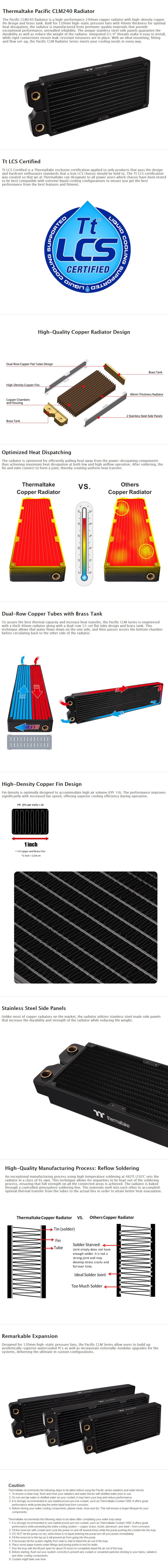 Thermaltake Pacific CLM240 240mm Radiator - Desktop Overview 1