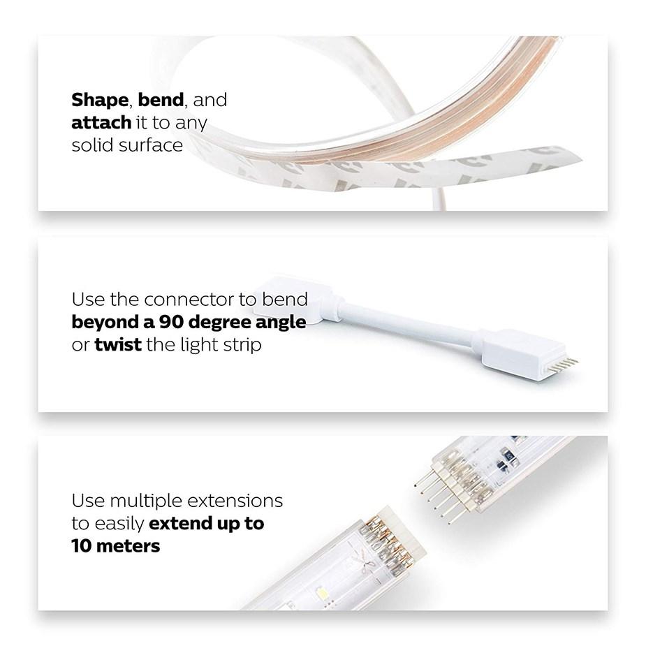 Philips Hue LightStrip Plus Smart LED Light Strip Extension - 1 Meter  - Desktop Overview 1