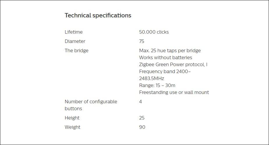 Philips Hue Smart Tap Switch - Desktop Overview 2