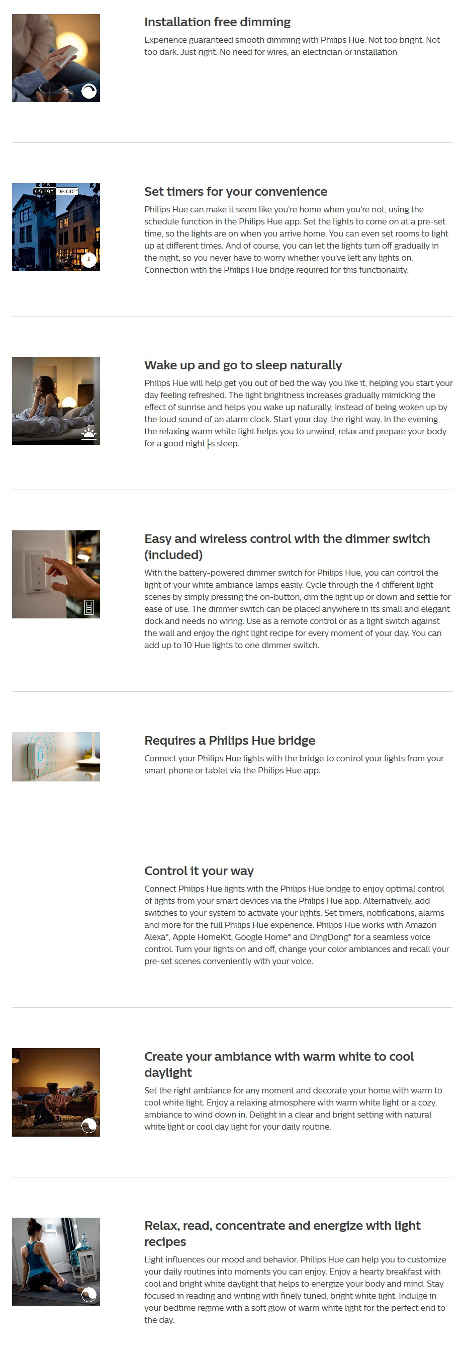 Philips Hue White Ambience Muscari LED Ceiling Pendant Light with Dimmer Switch - Desktop Overview 1