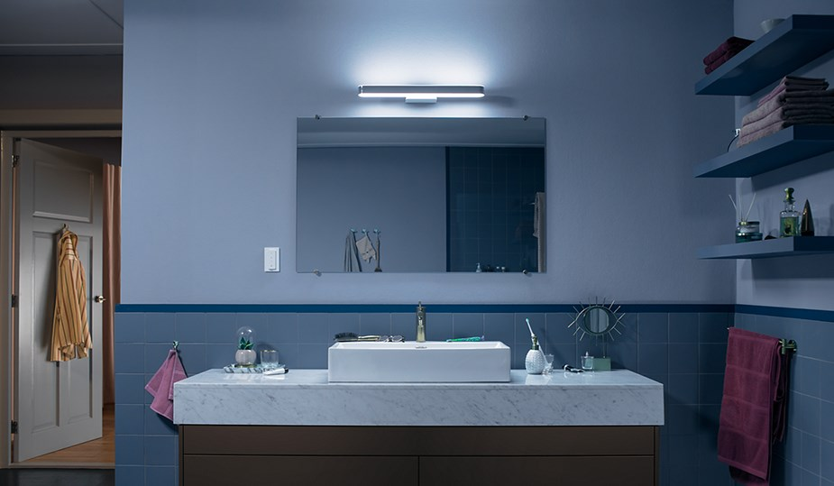 Philips Hue Adore White Ambience Bathroom Wall Light with Dimmer Switch - Desktop Overview 2