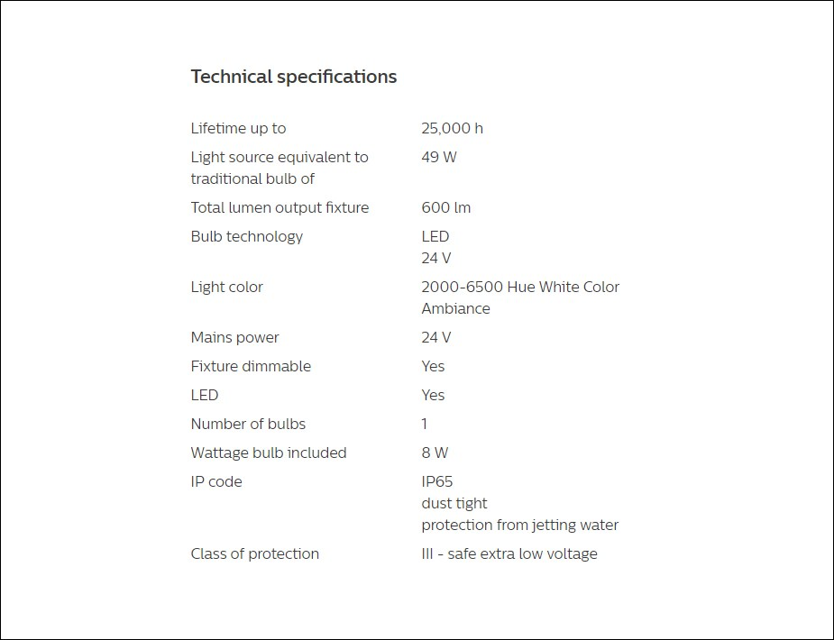 Philips Hue White/Colour Ambience Lily Outdoor Spot Light Extension Kit - Desktop Overview 6