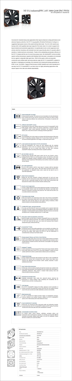 Noctua 120mm NF-F12 Industrial PPC IP67 Q100 3000RPM PWM Fan - Desktop Overview 1