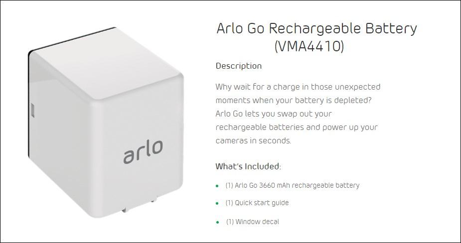 Arlo Go Rechargeable Battery - Desktop Overview 1