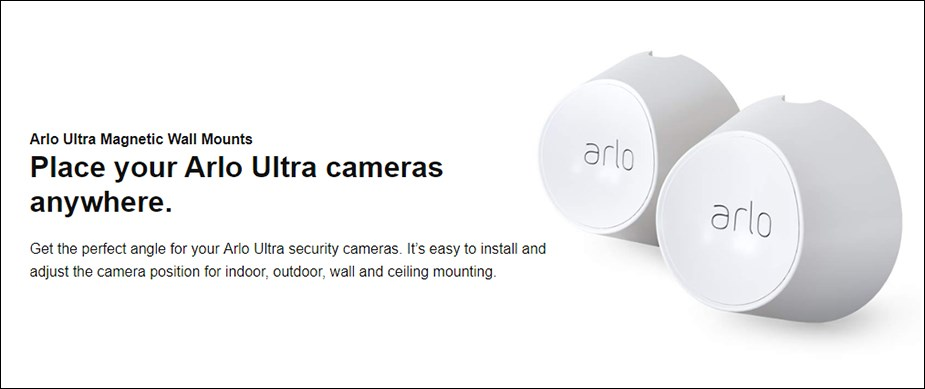 Arlo Ultra Magnetic Wall Mount - 2 Pack - Desktop Overview 1