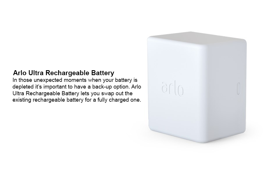 Arlo Ultra Rechargeable Battery - Desktop Overview 1