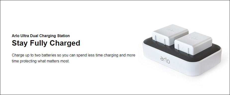 Arlo Ultra Dual Charging Station - Desktop Overview 2