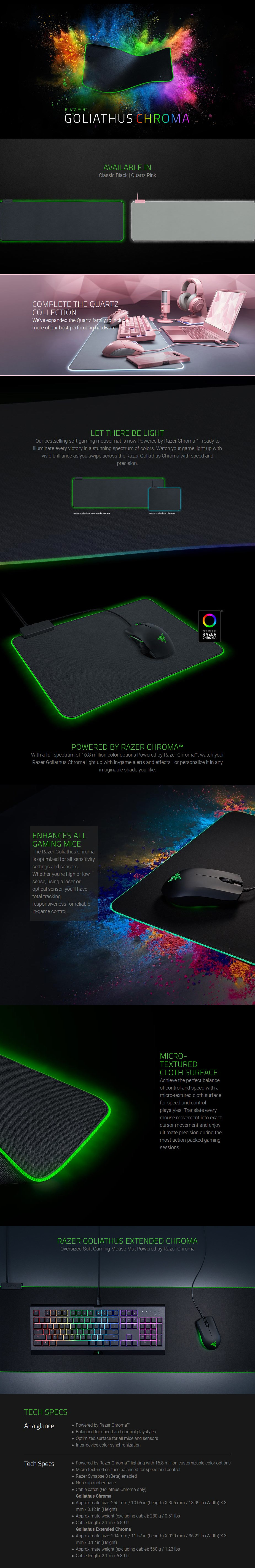 Razer Goliathus Chroma Soft Extended Gaming Mouse Mat - Quartz - Overview 1