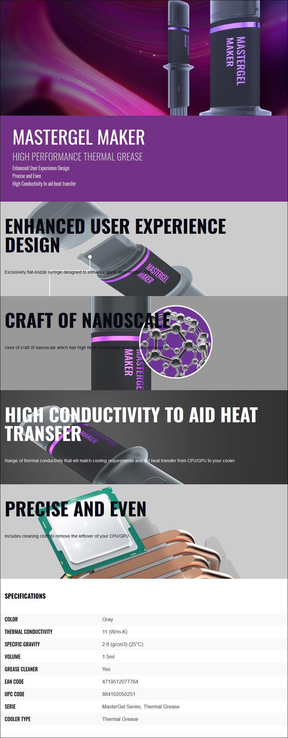 Cooler Master MasterGel Series Maker Thermal Paste - Desktop Overview 1