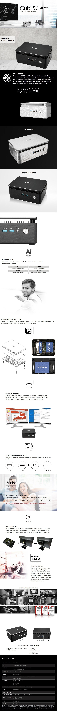 MSI Cubi 3 Silent S-023BAU Barebone Mini-PC - Intel Core i5-7200U - Black - Desktop Overview 1