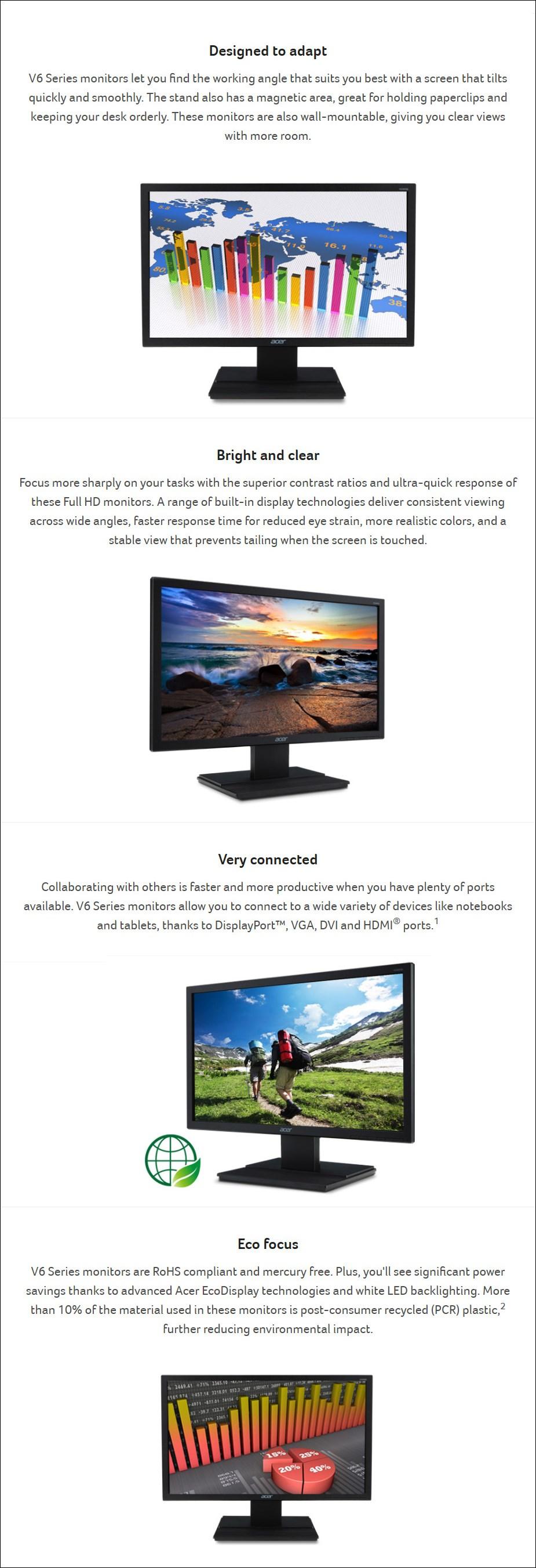 """Acer V276HL 27"""" Full HD VA Monitor - Desktop Overview 1"""