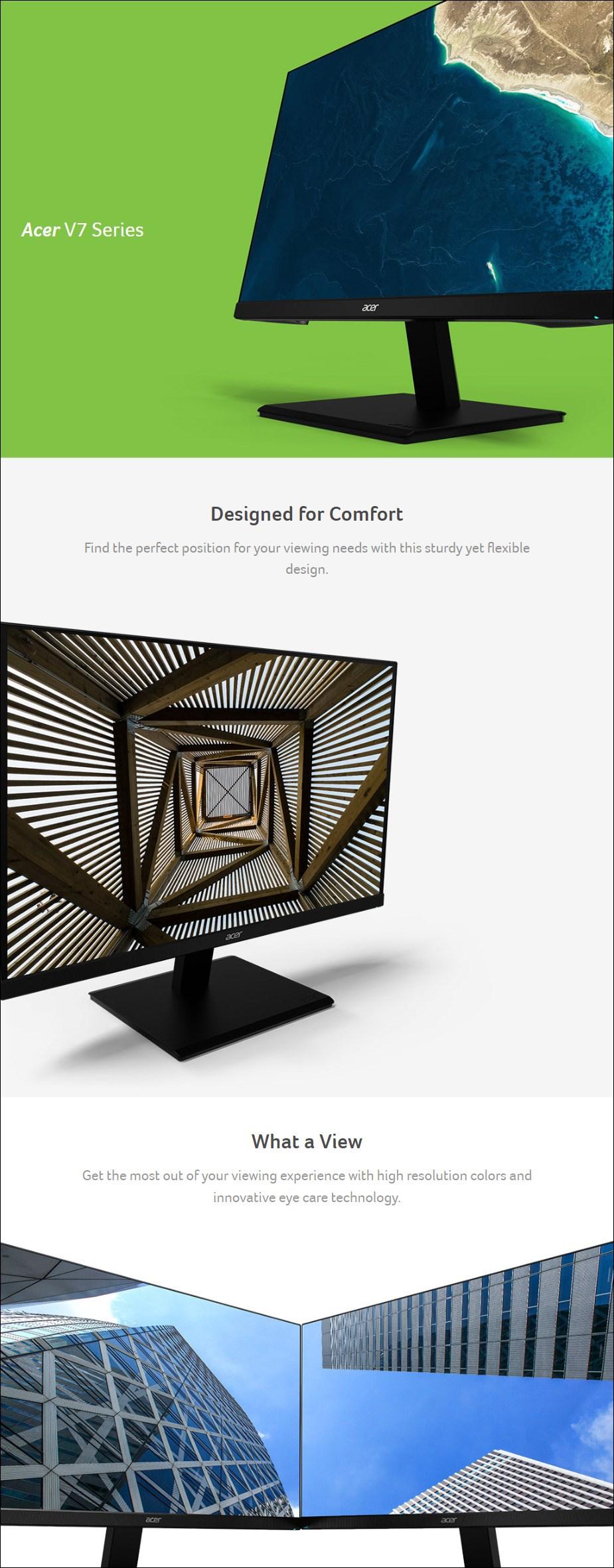 """Acer V247Y 23.8"""" 75Hz Full HD IPS Monitor - Desktop Overview 1"""