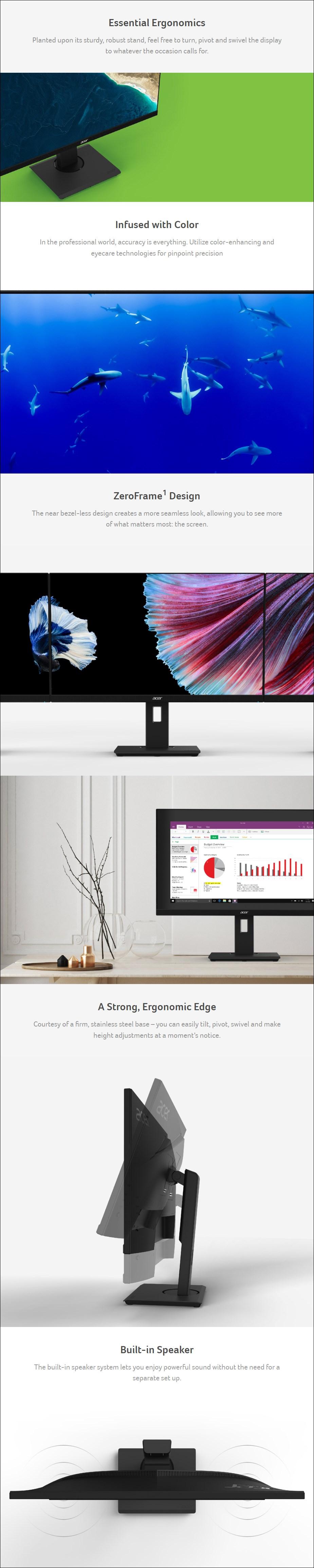 "Acer B277U 27"" 75Hz WQHD Ergonomic IPS Monitor - Desktop Overview 1"