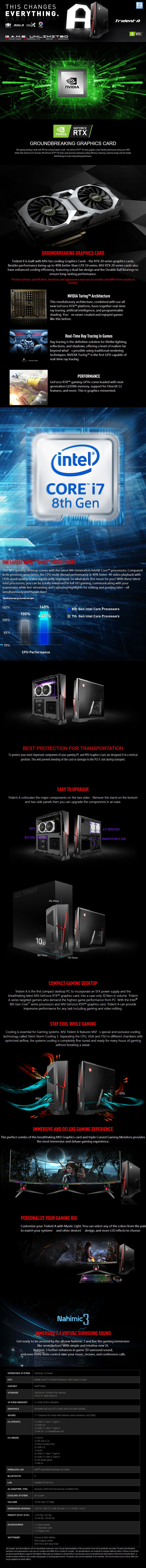 MSI Trident A Compact Gaming PC i7-8700 16GB 2TB+256GB RTX 2060 Win10H - Overview 1