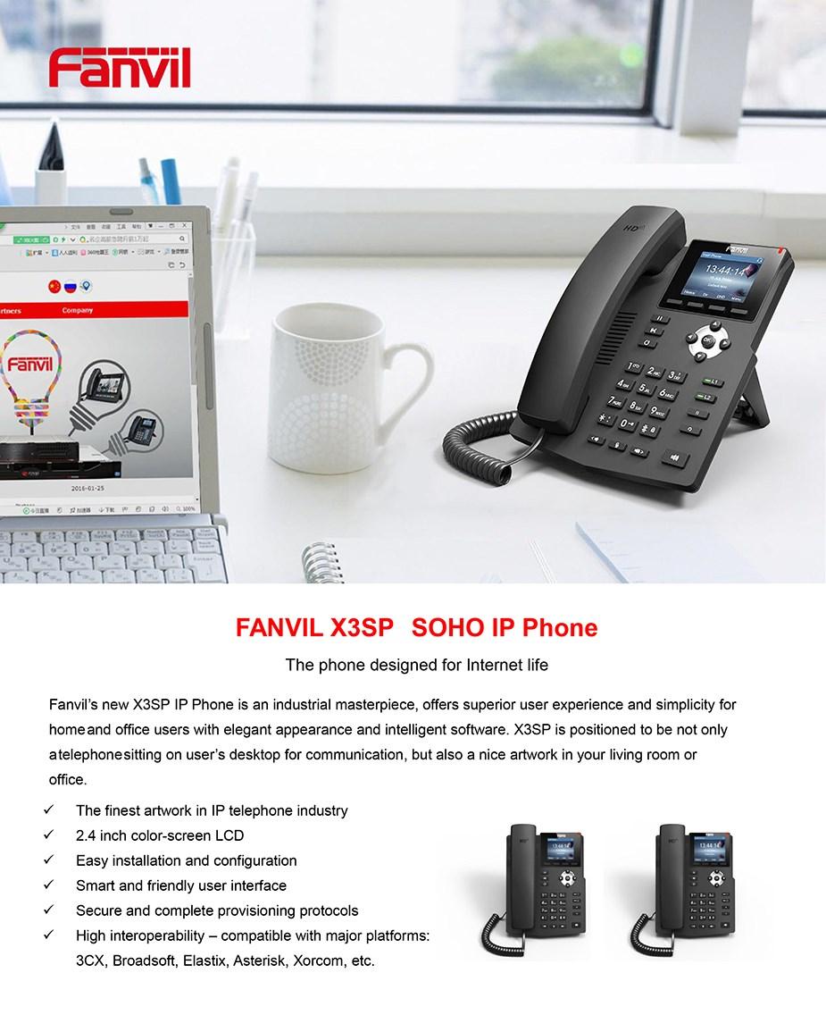 Fanvil X3SP 2-Line HD IP Phone - Desktop Overview 1