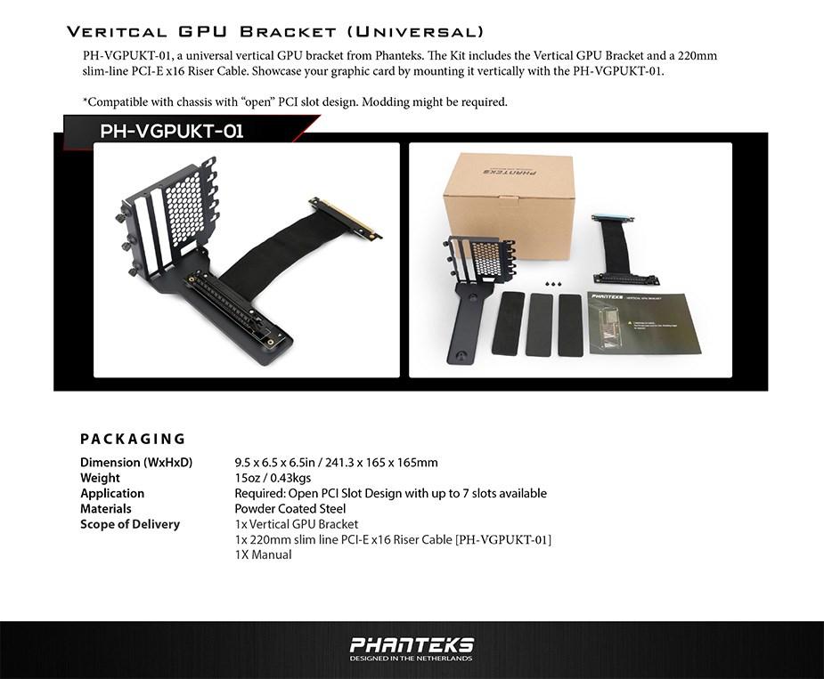 Phanteks Universal Vertical GPU Bracket - Overview 1